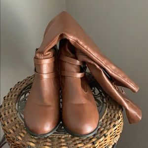 Just Fab brown riding knee boots 9